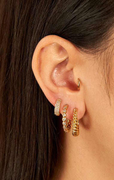 BUBBLE ZIRCONIA HOOPS