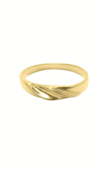 goude ring, ringparty sieraden gold plated, liquid gold ring flawed