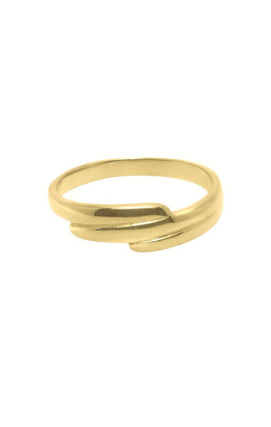 CONTEMPORARY LINES RING FLAWED, RING GOUD , RINGPARTY
