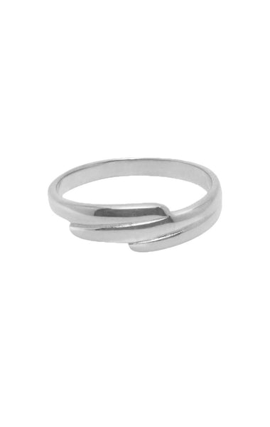 CONTEMPORARY LINES RING FLAWED, RING ZILVERE ZILVER , RINGPARTY
