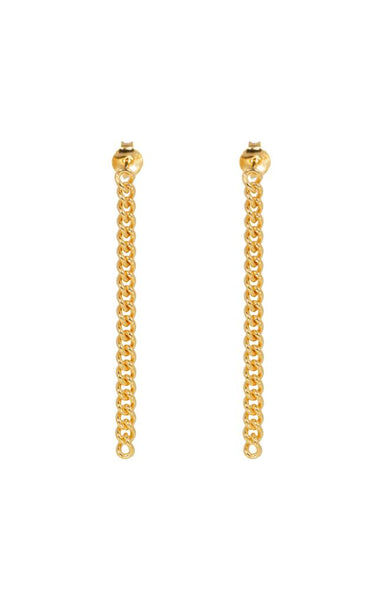 chunky chain earrings, gold, Eline Rosina,