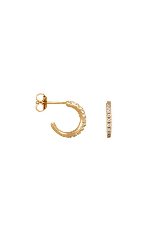 MEDIUM ZIRCONIA HOOPS