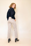 DAMES BROEK, TROUSERS, POLLY, EDITIED, CREME