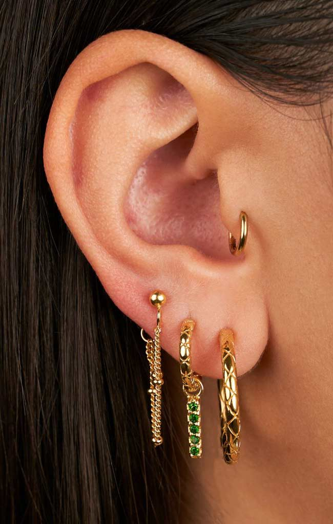 MIX & MATCH SINGLE SNAKE HOOP EARRING