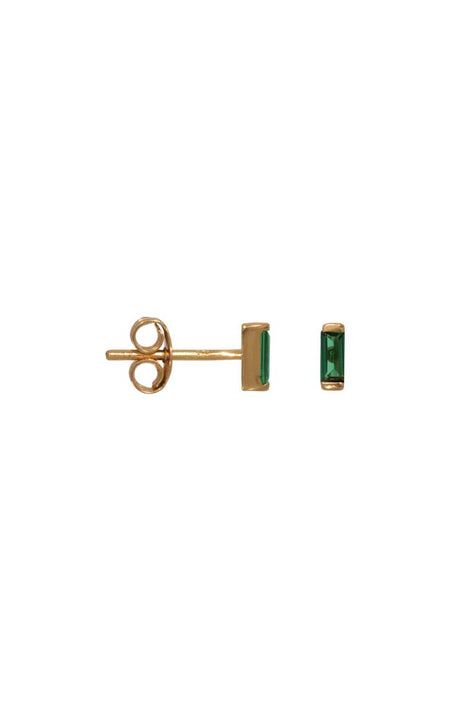 OCEAN GREEN HUGGIE SINGLE EARRING
