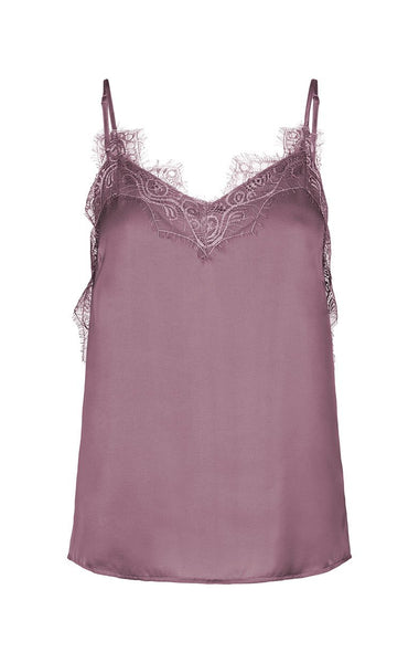 Lace top, singlet top, colored singlet, Moss Copenhagen
