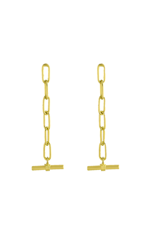 Tube earring, chain earring, long earring, lore oorbellen, flawed