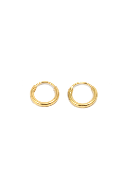 TINY HOOPS IN GOLD AND SILVER (8MM) - UNC Wardrobe