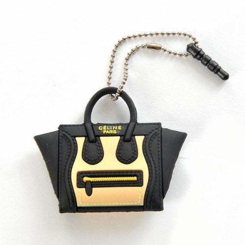 Silicon Celine'c Bag 3.5mm Anti Dust Earphone Jack Plug Stopper Cap for Iphone Samsung Black