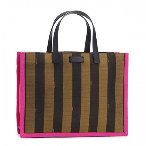 Fendi Large Pequin Shopping Tote Pink