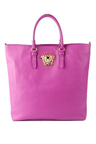 Versace Large Palazzo Collection Leather Medusa Tote Bag Shoulder Bag