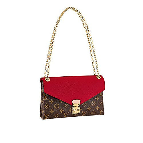 Louis Vuitton Pallas Chain Handbag Shoulder Bag Purse (Cherry)