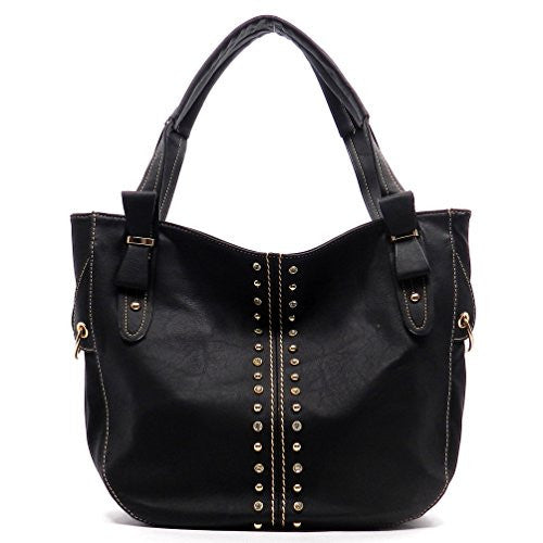 Rodeo No. 176 Laddox Ruffle Hobo Shoulder Bag (Slate)