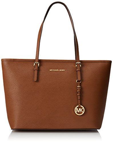 Michael Kors Jet Set Travel TZ Tote Women's Leather Handbag Brown