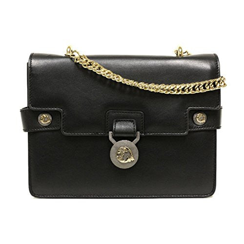 Versace Collection Black Leather Crossbody Handbag 796438