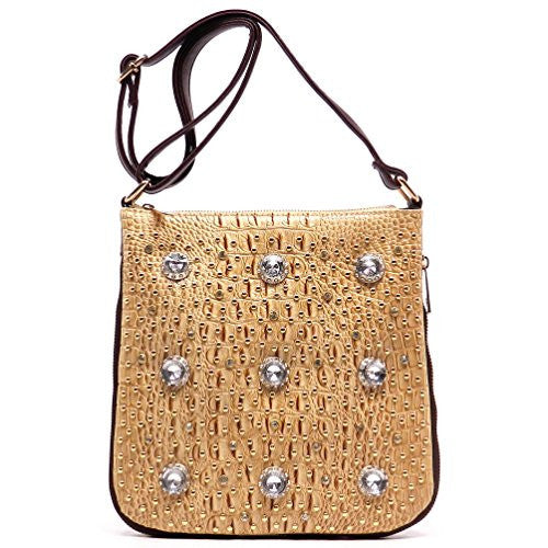 Rodeo No. 165 Crystal Studded Evening Cross Body Bag (Espresso)