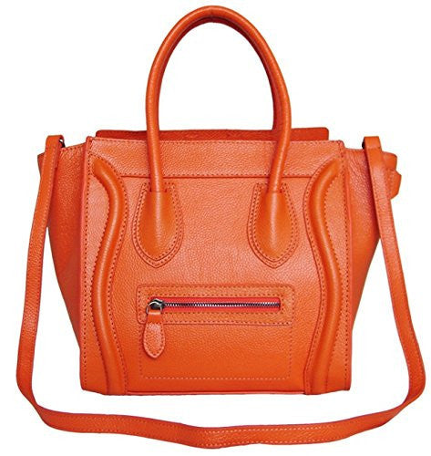 Lush Leather Medium Jet Setter Poppy Orange Bag