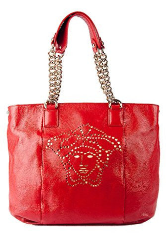 Versace Large Leather Medusa Signature Chain Tote