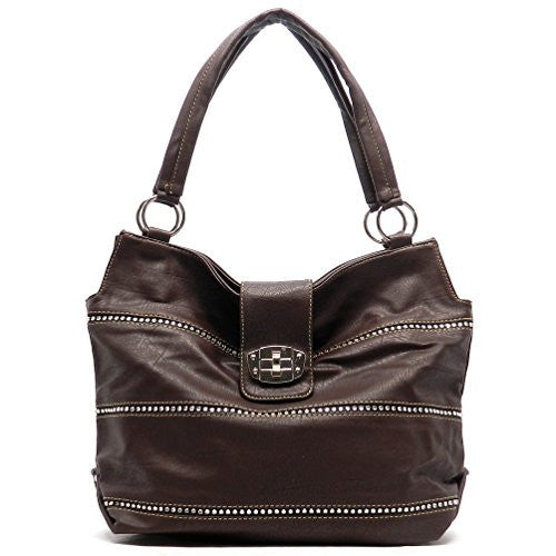 Rodeo No. 191 Flap Over Everyday Shoulder Bag (Chocolate)