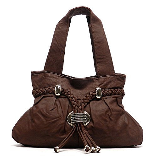 Rodeo No. 148 Kendall Over Sized Western Tassel Tote (Chocolate)