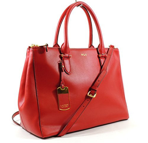 LAUREN Ralph Lauren Winford Double Zip Satchel (Red)