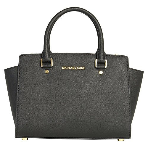 MICHAEL Michael Kors Women's Medium Top Zip Satchel, Black, One Size