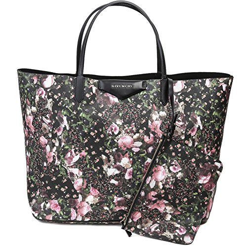 Givenchy Women's Floral Print Tote Bag With Pouch Set One Size Black