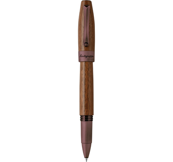 Montegrappa - Penna Roller Heartwood Noce ISFOWBIW