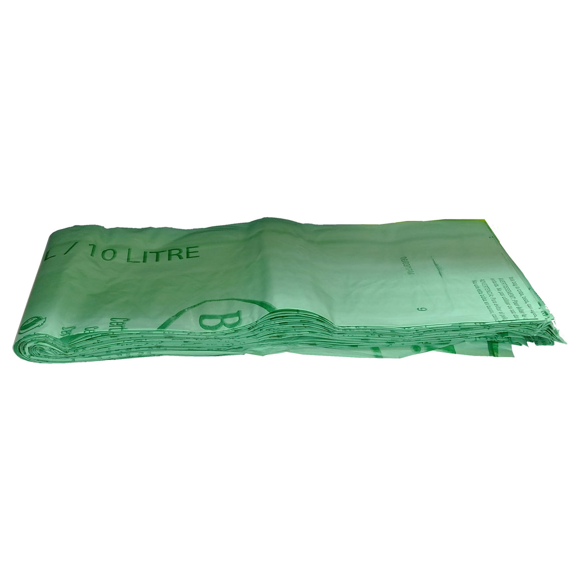 "16.9"" X 17.7"" X 0.64 Mil 3 Gallon Green Certified Compostable Plastic Food Scrap Collection Bags"