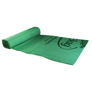 "22.2"" X 29"" X 0.68 Mil 13 Gallon Green Certified Compostable Plastic Food Scrap Collection Bags"