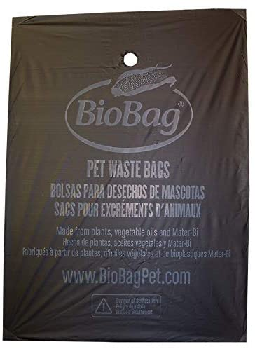"9.8"" X 12.5"" X 0.9 Mil Black Certified Compostable Plastic Pet Waste Bags (1,050 Bags Packed 35 Bags/Box, 30 Boxes/Case)"