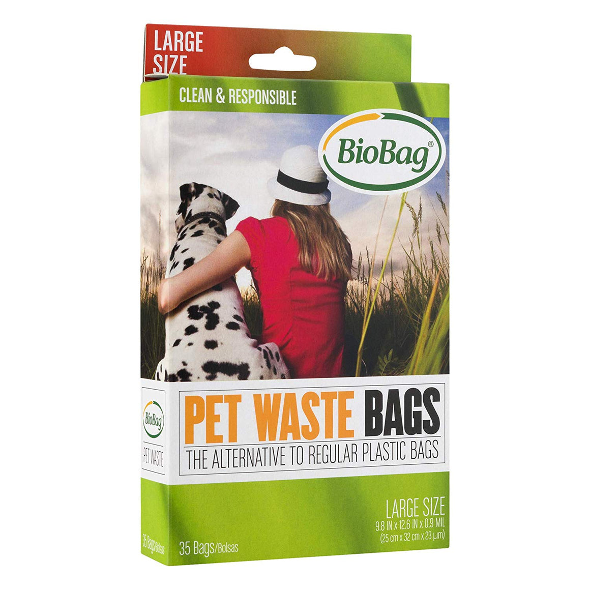 "9.8"" X 12.5"" X 0.9 Mil Black Certified Compostable Plastic Pet Waste Bags (420 Bags Packed 35 Bags/Box, 12 Boxes/Case)"