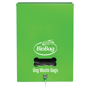 "12.0"" x 17.0"" x 2.0"" Mountable and Lockable Dog Waste Bag Dispenser"