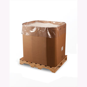 Clear Eco-Manufactured Plastic Bin and Gaylord Liners