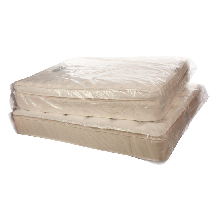 Clear Plastic Eco Manufactured Pillow-Top Mattress Bags