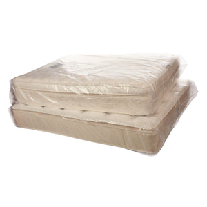 Clear Eco-Manufactured Plastic Pillow-Top Mattress Bags