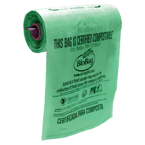 "11"" X 17"" X 0.48 Mil Pale Green Certified Compostable Plastic Grocery Store Produce Bags"