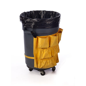 Black Plastic Eco Manufactured Trash Liners