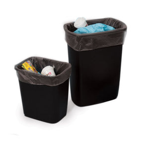 Black Eco-Manufactured Plastic Heavyweight Trash Can Liners
