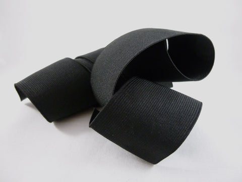 Black 50mm Flat Elastic