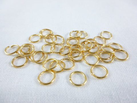 7mm Gold Jump Rings