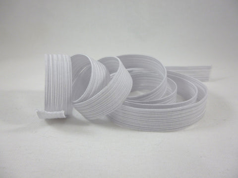 White 11mm Corded Elastic