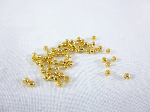 100 Gold Crimp beads