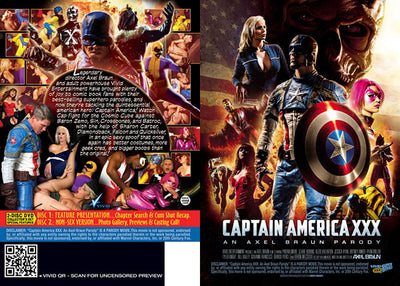 Captain America XXX (2 Disc Set) - Vivid Sealed DVD