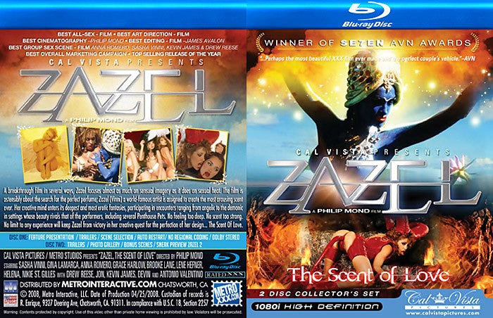 Zazel #2 Cal Vista Blu Ray 2 DVD Collectors Set
