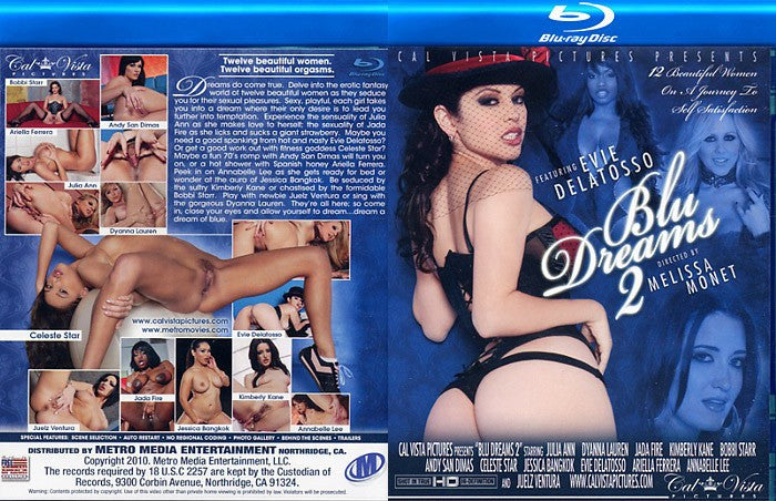 Blu Dreams #2 Cal Vista Blu Ray DVD