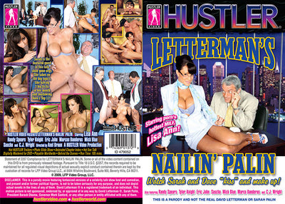 Letterman's Nailin' Palin Hustler - Parody Sealed DVD
