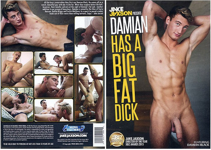 Damian Has a Big Fat Dick - Cocky Boys Gay Sealed DVD (Models Over 18)