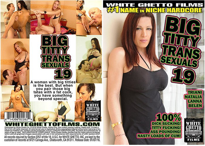 Big Titty Transsexuals #19 - White Ghetto 2016 Sealed DVD