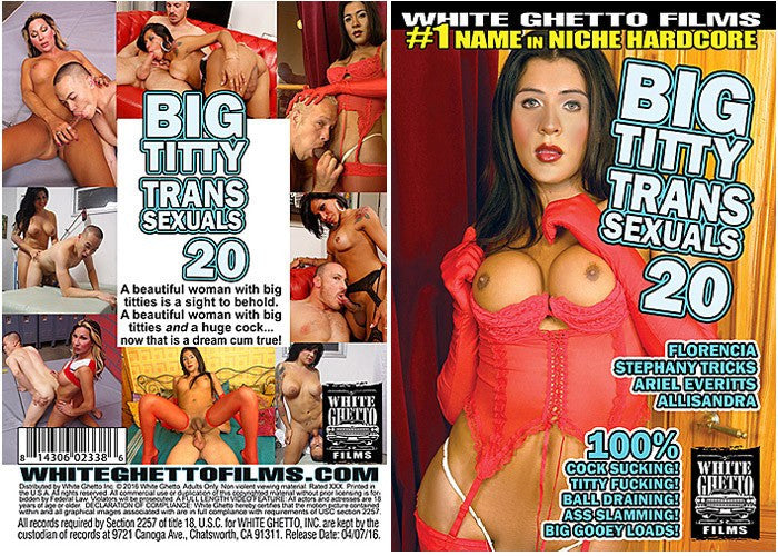 Big Titty Transsexuals #20 - White Ghetto 2016 Sealed DVD